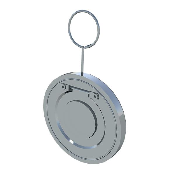 Обратный клапан межфланцевый хлапушка пластик